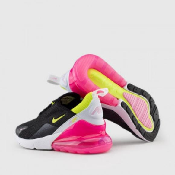 Nike Air Max 27 Black Pink Neon Green